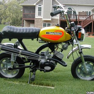 1972 Aermacchi Harley Shortster 65cc fully restored