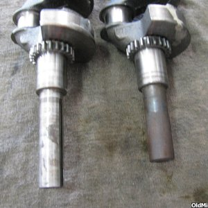early HS40 crankshafts (standard and long version)