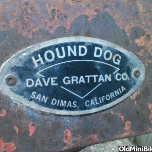 Hound Dog Badge Tag