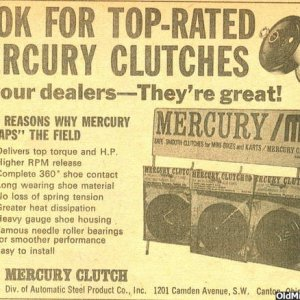 Mercury Clutch 6/68