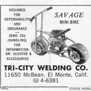 Savage Mini Bike Ad