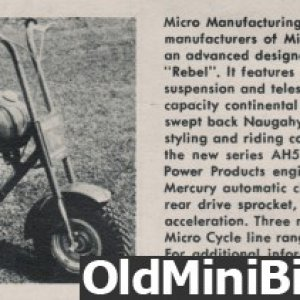Micro Cycle Rebel Ad