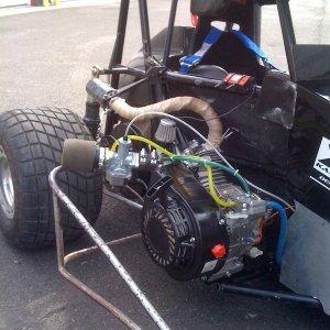 PMR Jackshaft on Modified Superbox Kart for Short track dirt