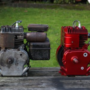 Briggs and Stratton 4HP Motors - From Behind