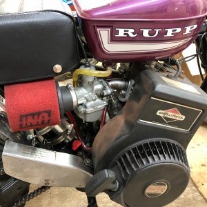 Rupp Roadster 2 with a flathead Briggs and a Mikuni.