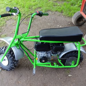Baja - Dirt Bug DB-30S Mini Bike finished restoration picture #1.JPG