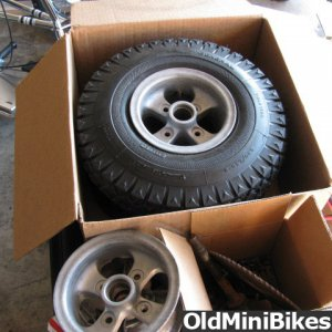 lil indian sabre/ sandblasted wheels NOS General tires