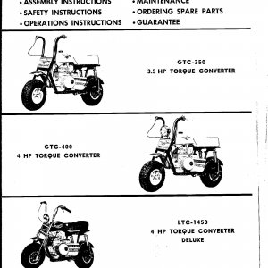 1972 Trail Horse models