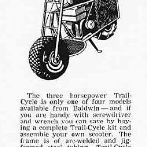 1960s Trail-Cycle Newspaper ad