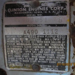 Clinton A490 Panther Engine