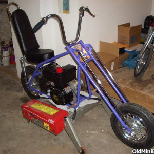 Purple Outlaw Chopper