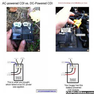 AC vs. DC powered CDI module