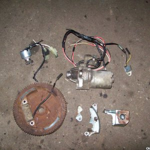 Honda GX160 lighting coil flywheel starter