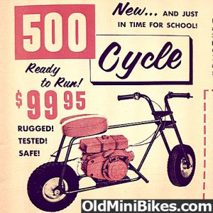500 Industries Cycle w/Clinton Engine